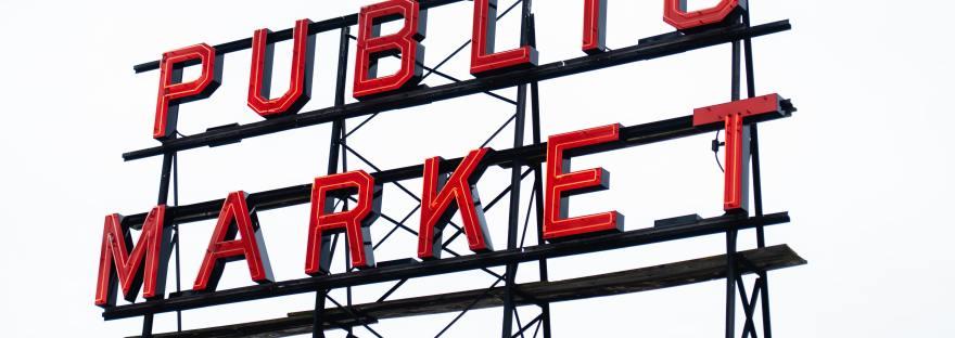 Sign reading Public Market